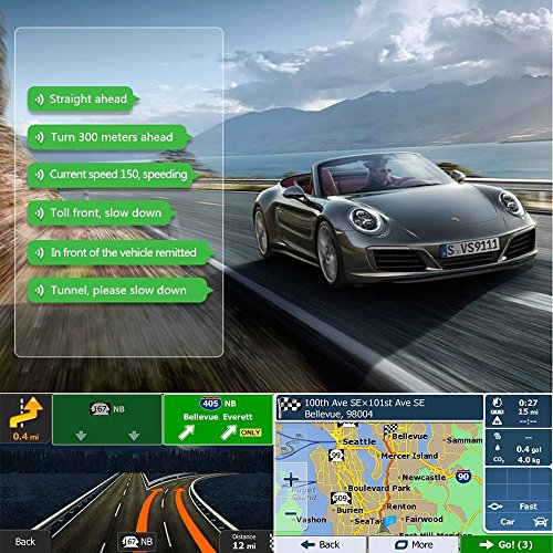 GPS Navigation for automobile AWESAFE 7 inches feel display screen 8GB Navigation System for Cars lifetime North America Map messages In Dash Navigation
