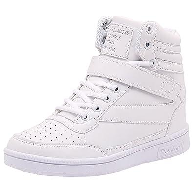 Wealsex Zapatillas de Cuña para Mujer Botas Botines Alta Zapatos ...