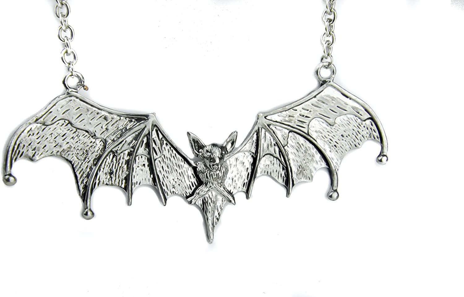 Bat Necklace Great For Halloween 2 Colors to Choose Pendant