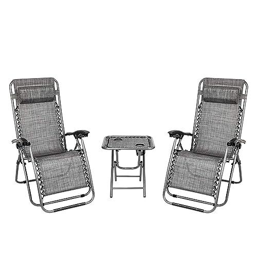 Tenozek 2 Pieces Beach Lounge Chair
