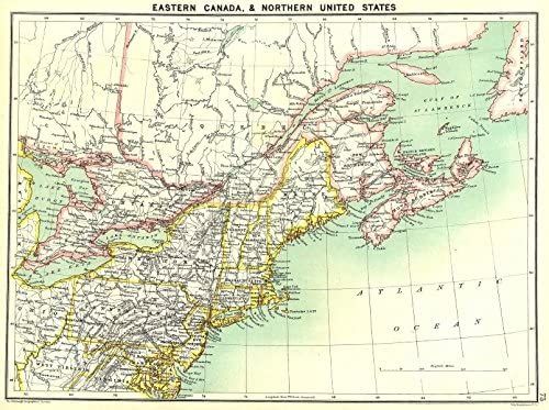 Amazon Com Canada East North East Us 1900 Old Map Antique Map Vintage Map Canada Maps Wall Maps Posters Prints