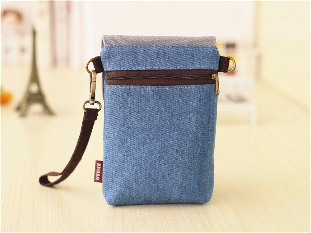 Abaddon Vintage Printed Handmade Women Mini Crossbody Bag Cellphone Pouch Small Handbag Coin Purse (blue totoro) by Abaddon (Image #3)