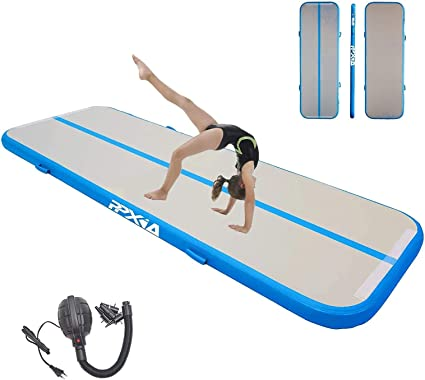 Inflatable Gymnastics Tumbling Mat Length 10ft to 39ft Thickness 4//8 inches Air Track Floor Mats with Electric Air Pump for Home Use//Training//Cheerleading//Beach//Park and Water