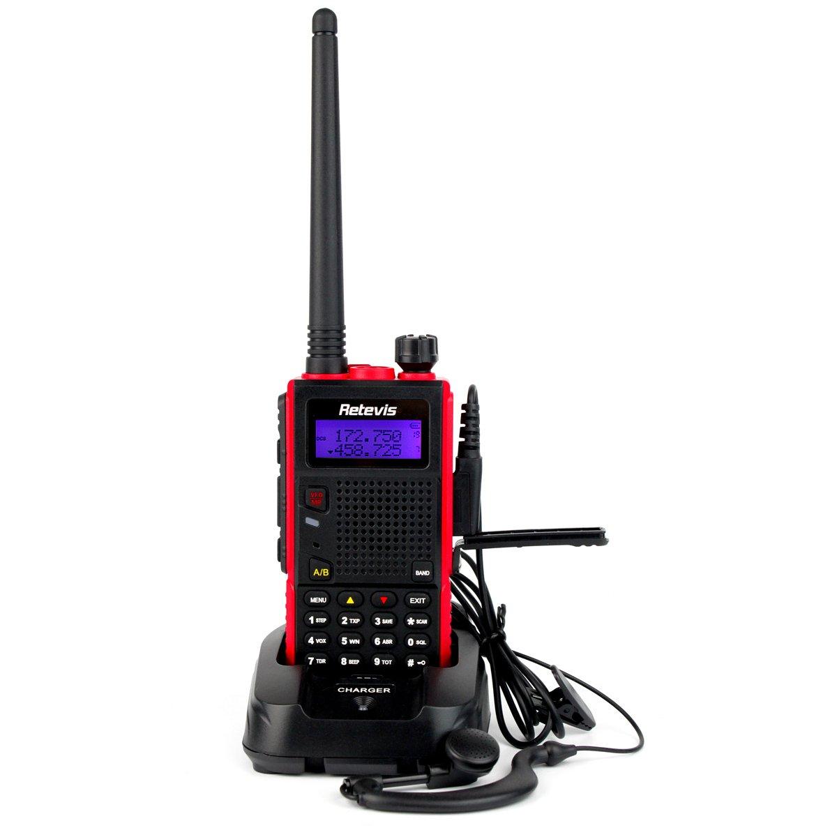 Retevis RT5 2 Way Radio 7W Dual Band VHF/UHF 136-174/400-520 MHz 128 Channel Scan VOX DTMF FM Radio 1750Hz Walkie Talkies (1 Pack)