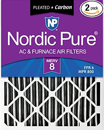 Nordic Pure 10x20x1 MERV 11 Pleated AC Furnace Air Filters 2 Pack