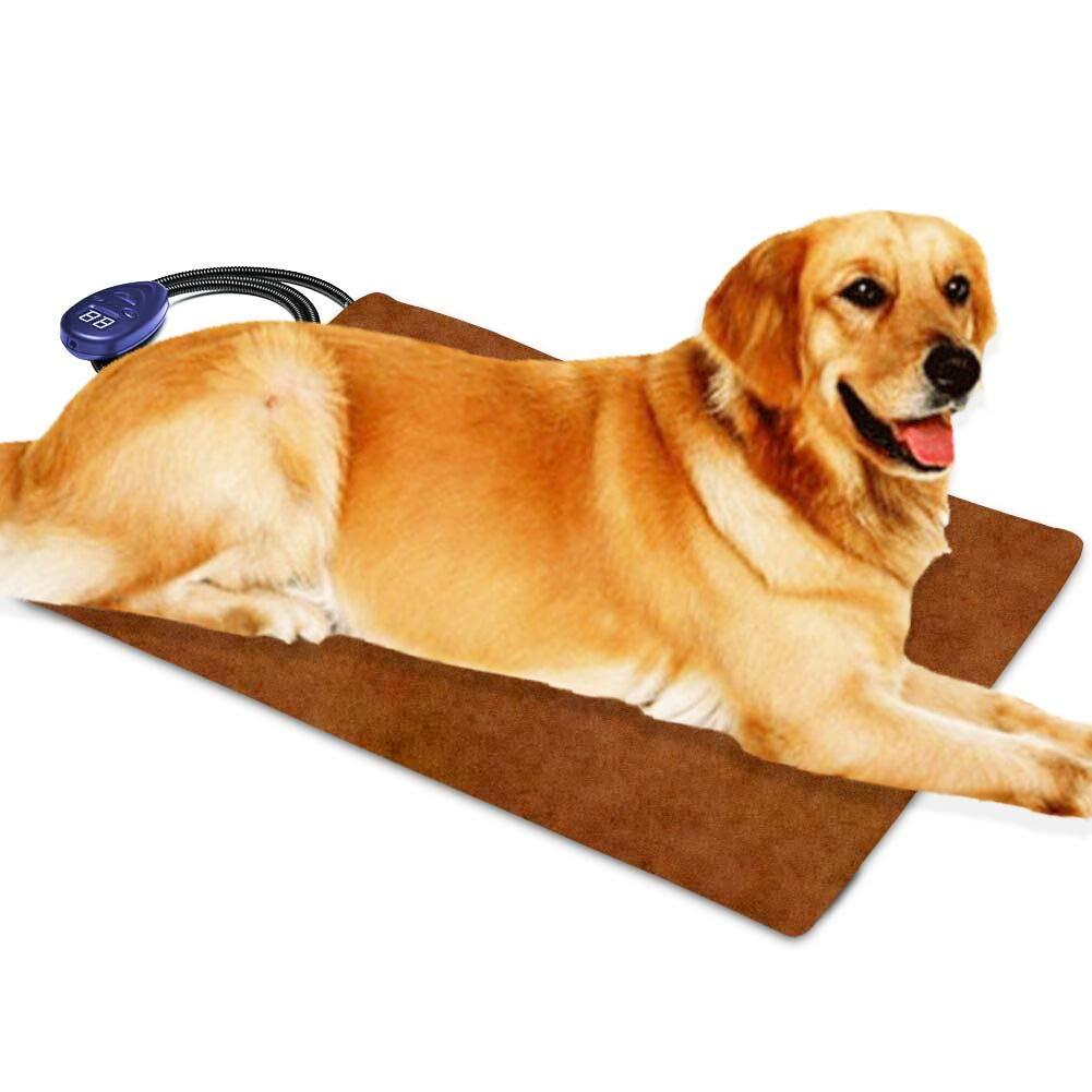 Cojín de calefacción para mascotas para gatos Perros eléctricos, temperatura ajustable de Berocia Impermeable Protección de sobrecalentamiento de la cama ...
