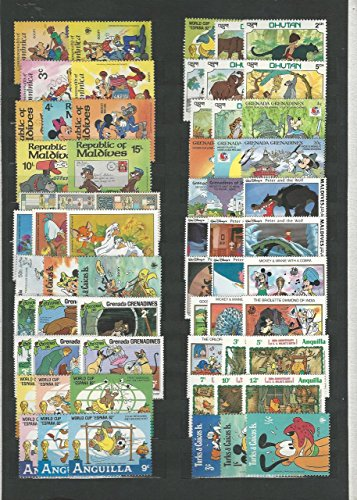Worldwide Walt Disney Stamp Collection on 3 Stock Pages, Mostly British