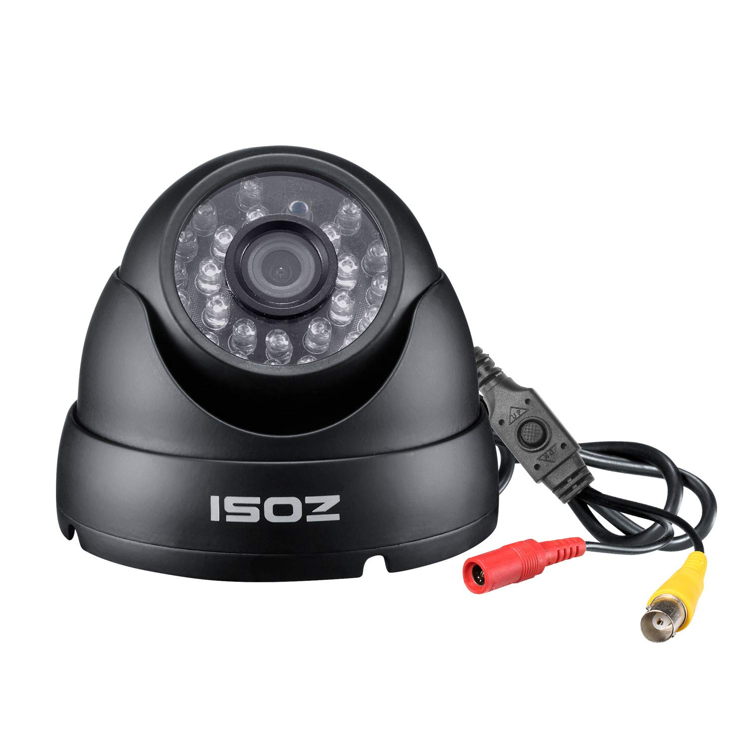 ZOSI 2.0MP FHD 1080p Dome Camera Housing Outdoor Indoor (Hybrid 4-in-1 CVI/TVI/AHD/960H Analog CVBS),24PCS LEDs,65ft IR Night Vision,CCTV Security Camera with 105° Wide Angle by ZOSI