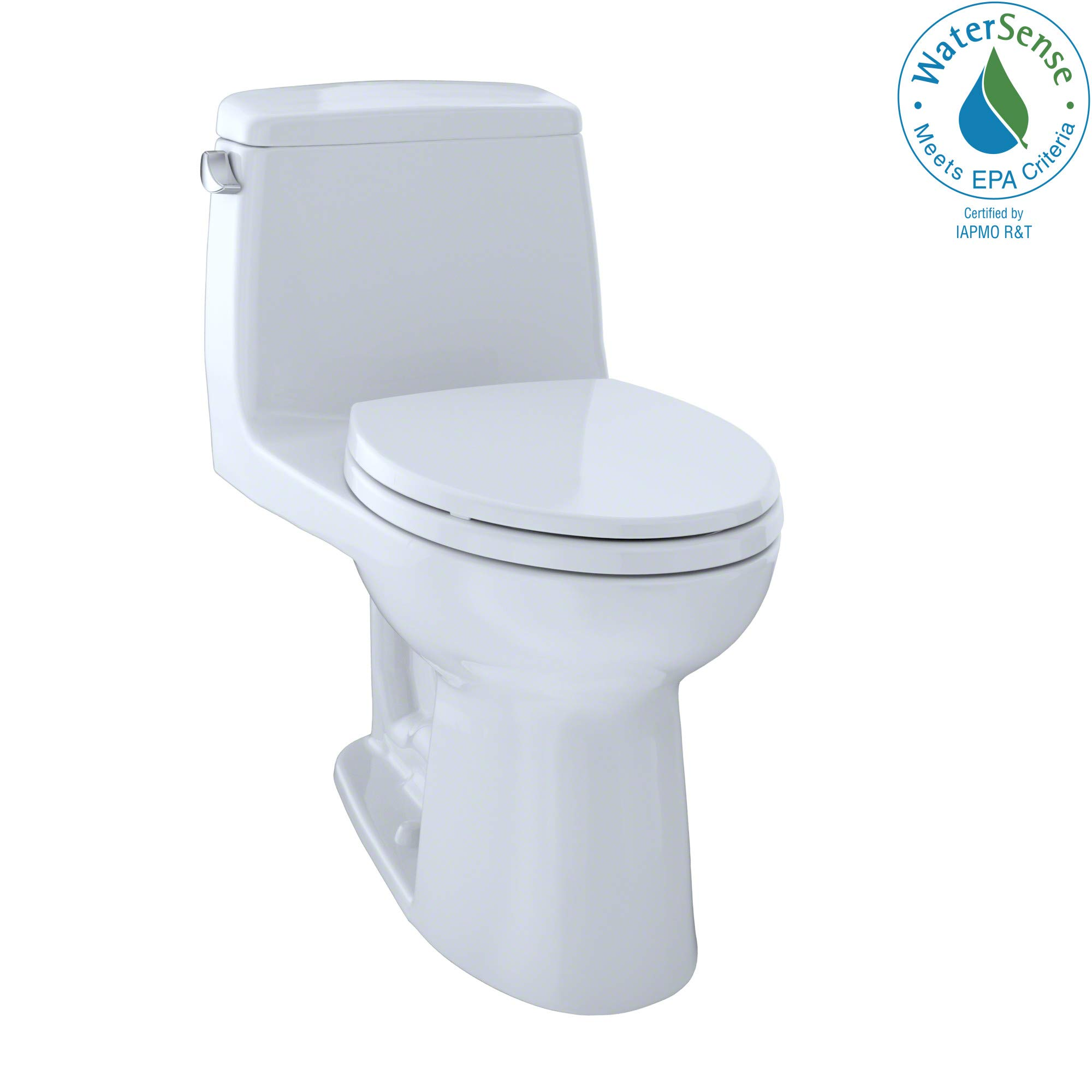 TOTO MS854114EL#01 Eco Ultramax ADA Elongated One Piece Toilet, Cotton White by TOTO
