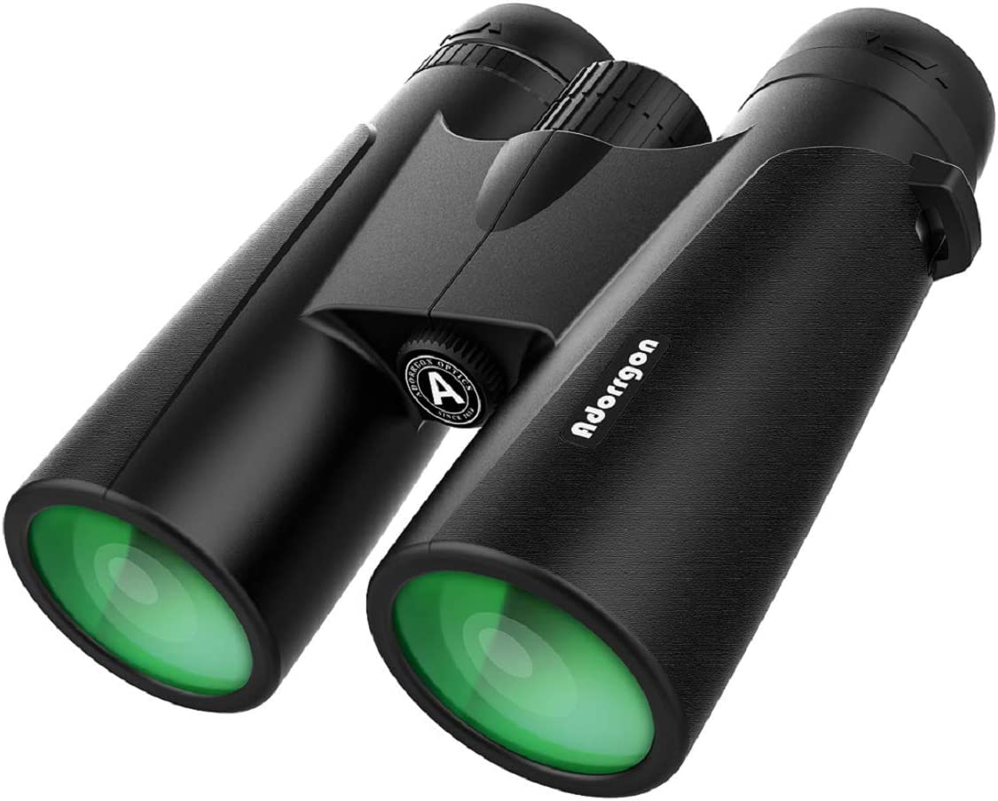 12×42 Powerful Binoculars with Clear Weak Light Vision – Lightweight 1.1 lbs. Binoculars for Birds Watching Hunting Sports – Large Eyepiece Binoculars for Adults with BAK4 FMC Lens