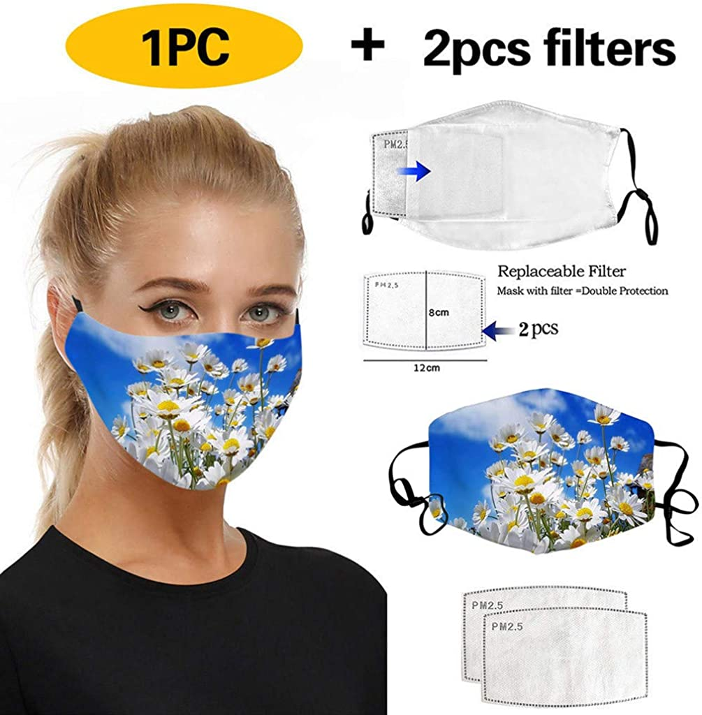 YIHANK 1PC Fashion Printing Breathable Protection Face Cover Reuse Face Cover