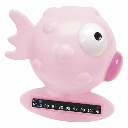 Chicco - Termómetro de baño forma pez, color rosa