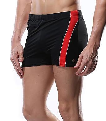 c70892df7a Amazon.com: beautyin Men's Swim Trunks Jammer Swimsuit Boxer Short Plaid  Square Leg Swimwear: Clothing