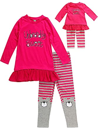 Dollie   Me Girls  quot Unbearably Sweet quot  Size 4-14 Pink Tunic Leggings adf3cc64a