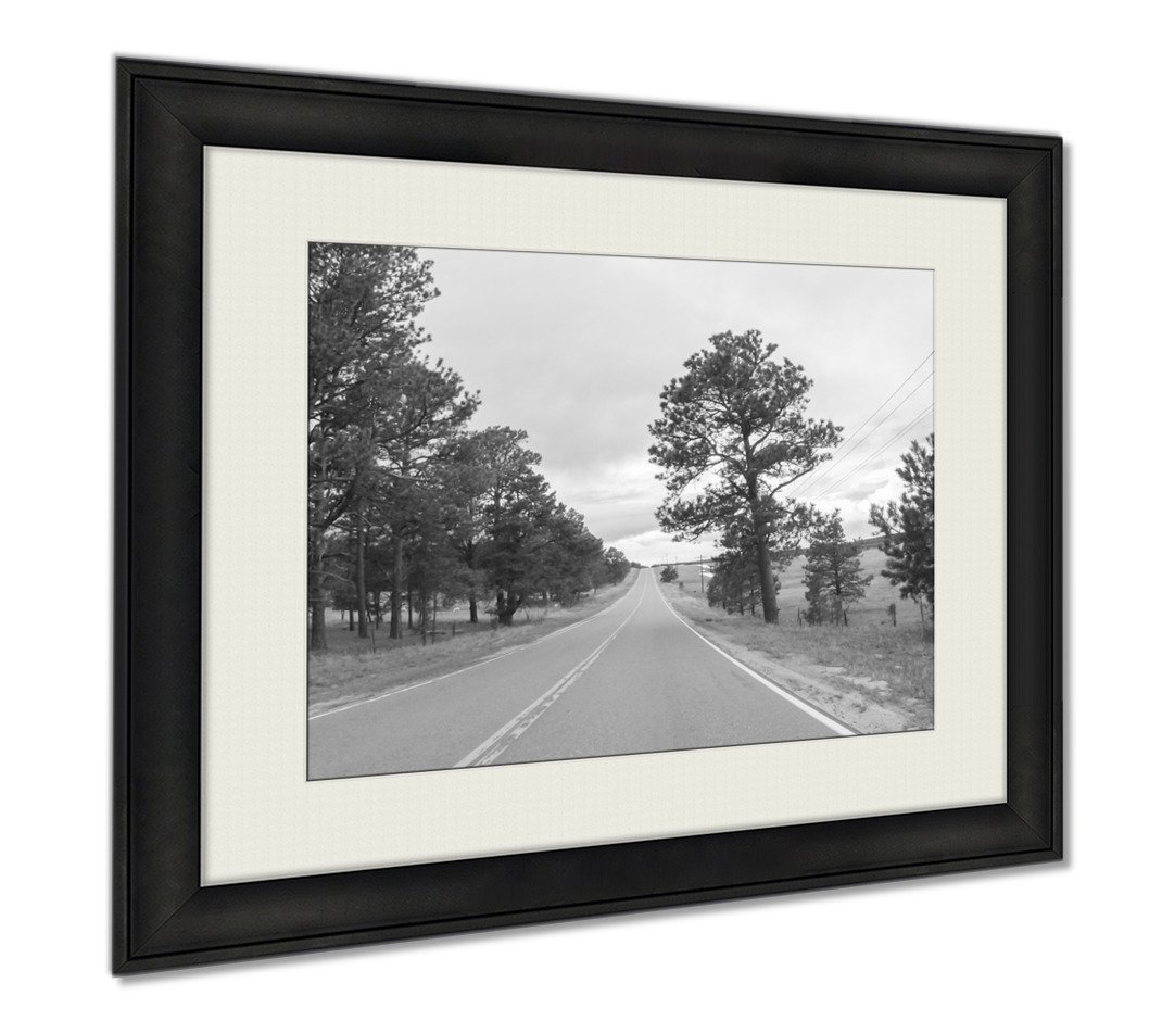 Ashley Framed Prints Countryside, Wall Art Home Decoration, Black/White, 30x35 (frame size), AG6370339