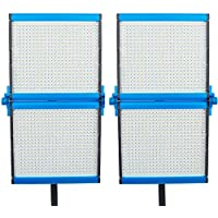Dracast S Series Foldable Bi-Color LED1000 Video Panel 2-Light Kit, Blue (DRASF-LK-2X1000B)