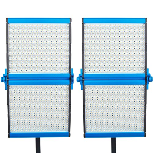 Dracast S Series Foldable Bi-Color LED1000 Video Panel 2-Light Kit, Blue (DRASF-LK-2X1000B) - Bi Series