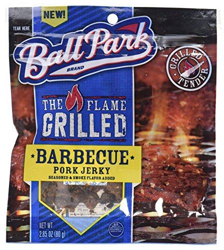 Ball Park, Flame Grilled Pork Jerky, Barbecue, 2.85 Ounce