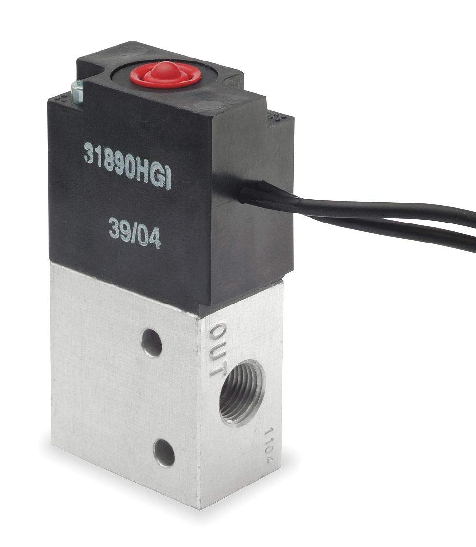 ARO 1/8'' 12VDC 3-Way, 2-Position Solenoid Air Control Valve - P251SS-012-D