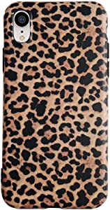 iPhone XR Leopard Case,YTanazing Classic Luxury Fashion Leopard Design Soft Rubber Gel Back Cover for Apple iPhone XR 6.1 inch