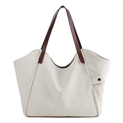 61fe02027f Maysurban Sac à main/Porté Epaule Cabas en Toile et Cuir Hobo Sac pour  Shopping