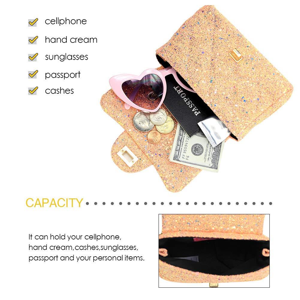 Amazon.com: CMK - Bolso bandolera con lentejuelas para niños ...