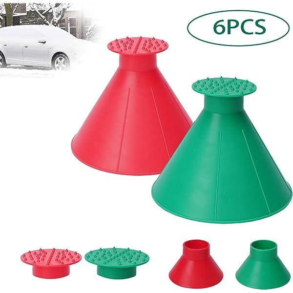 2 IN 1 Double Funnel Cone-Shaped Windshield Ice Scraper Snow Shovel Car Gasoline