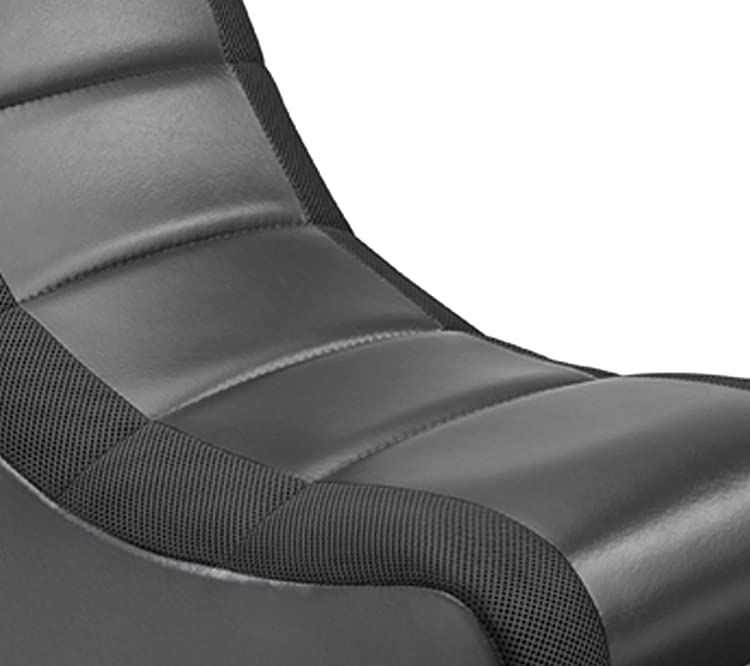 512100 Classic Video Rocker Black with Black Mesh Racing Stripe