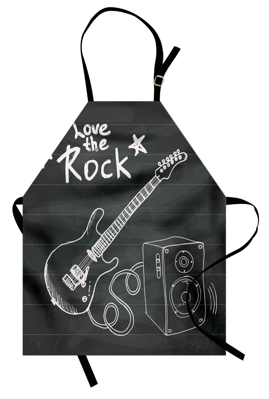 ABAKUHAUS Guitarra Delantal de Cocina, Ama La Música Rock ...
