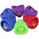Yibuy Plastic Guitar Pick Plectrum Holder Case Box for Acoustic Electric Guitar Pack of 6