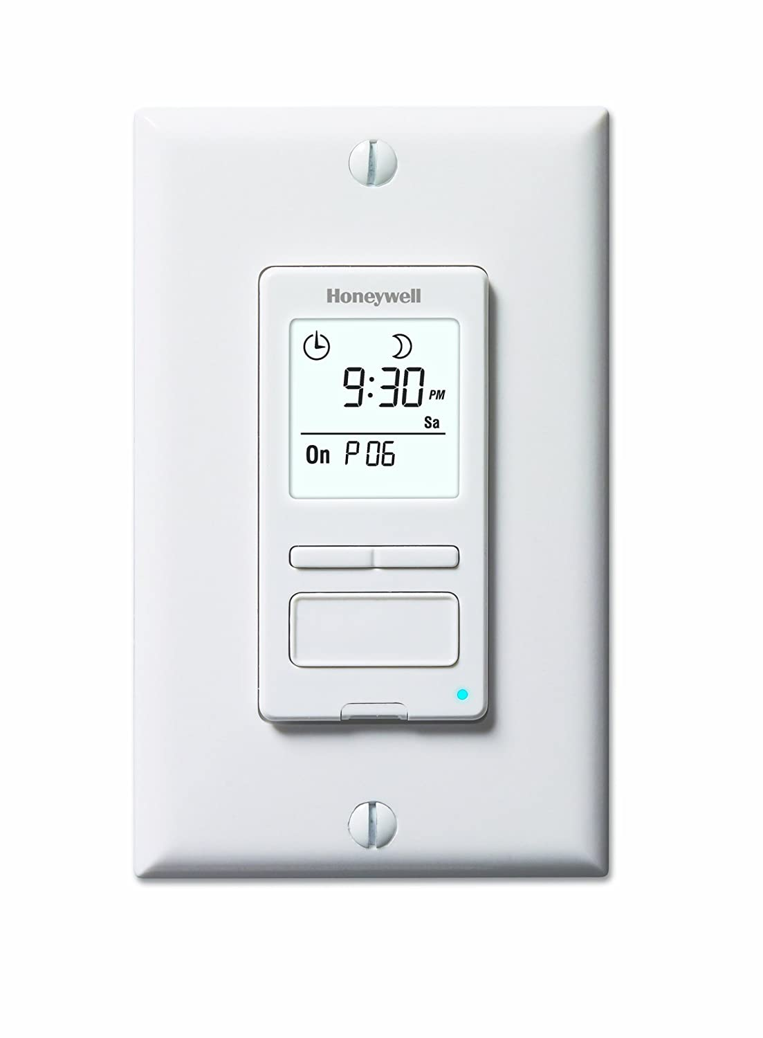 Honeywell RPLS540A ECONOSwitch Programmable Timer Switch, White (Requires 40 W Minimum)