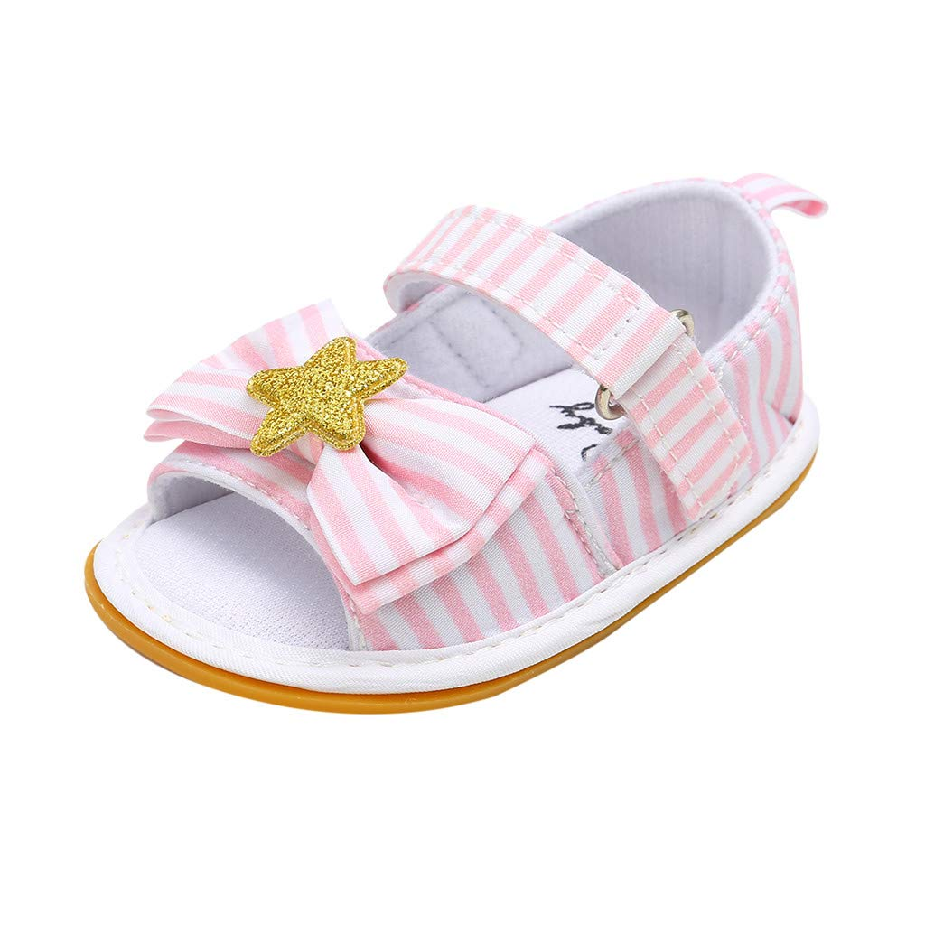 fashion Infant Baby Girls First Walker Shoes Summer  Sandal Anti Slip  Shoes