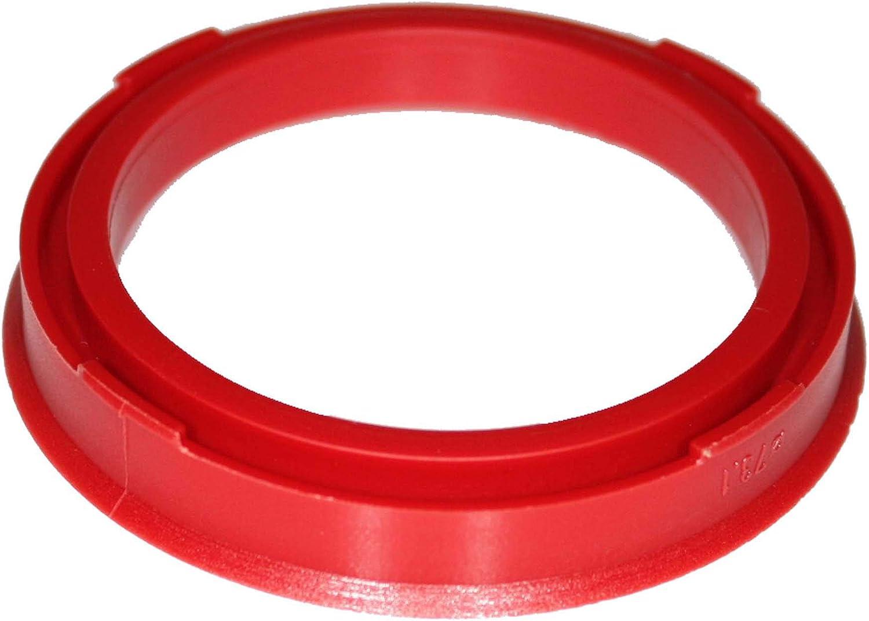 Felgen Distanzringe 73 1 Auf 57 1mm Rot 1stk Zentrierringe Adapterring Felge Zentrierringe 73 1 Auf 57 1 Mm Auto