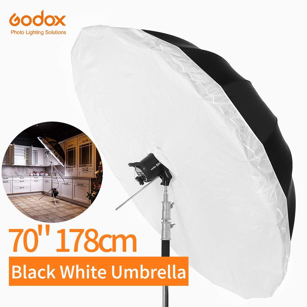 Godox 70 inch 178cm Black White Reflective Umbrella Studio Lighting Light Umbrella with Large Diffuser Cover by Godox