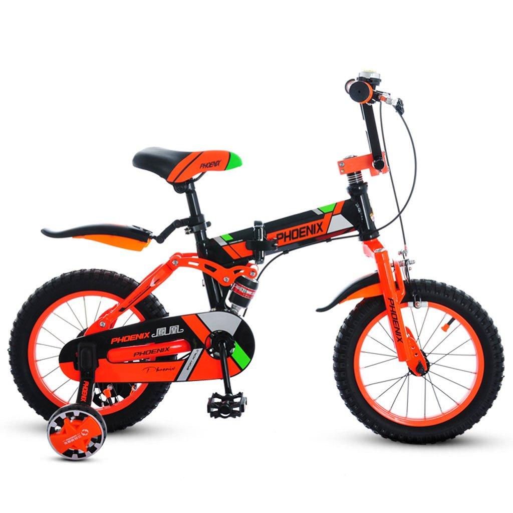子供用自転車5-9歳の男の子自転車折りたたみ式ベビーカー18インチキッズマウンテンバイクオレンジ ( Color : Orange ) B07DS73GR6