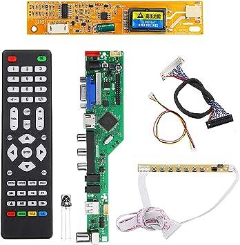 ILS - T.RD8503.03 televisor LED Controlador LCD Tablero Conductor TV/PC/VGA/HDMI/USB 2 Canales 30PINs 6bit: Amazon.es: Electrónica