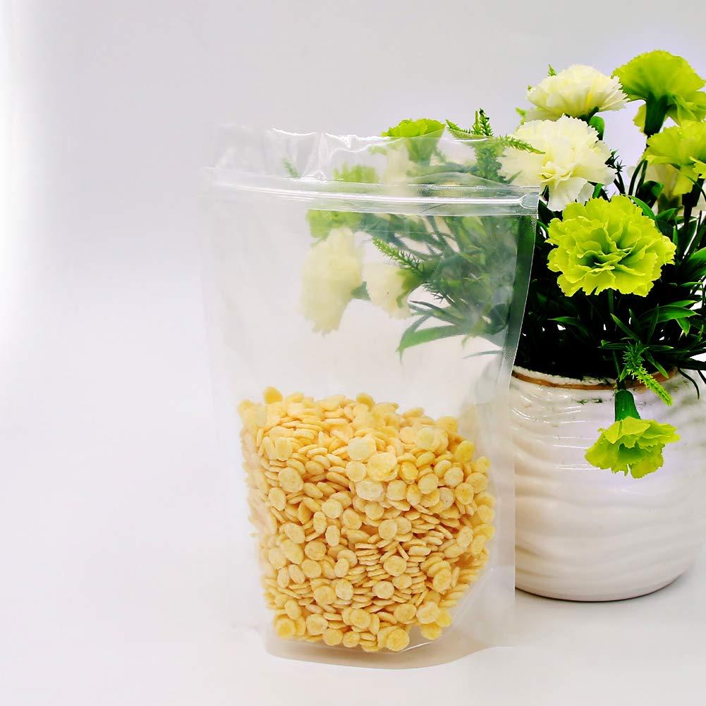 14x23cm SumDirect 100Pcs Transparente bolsa con cierre Zip plastico herm/ético para alimentos joyas