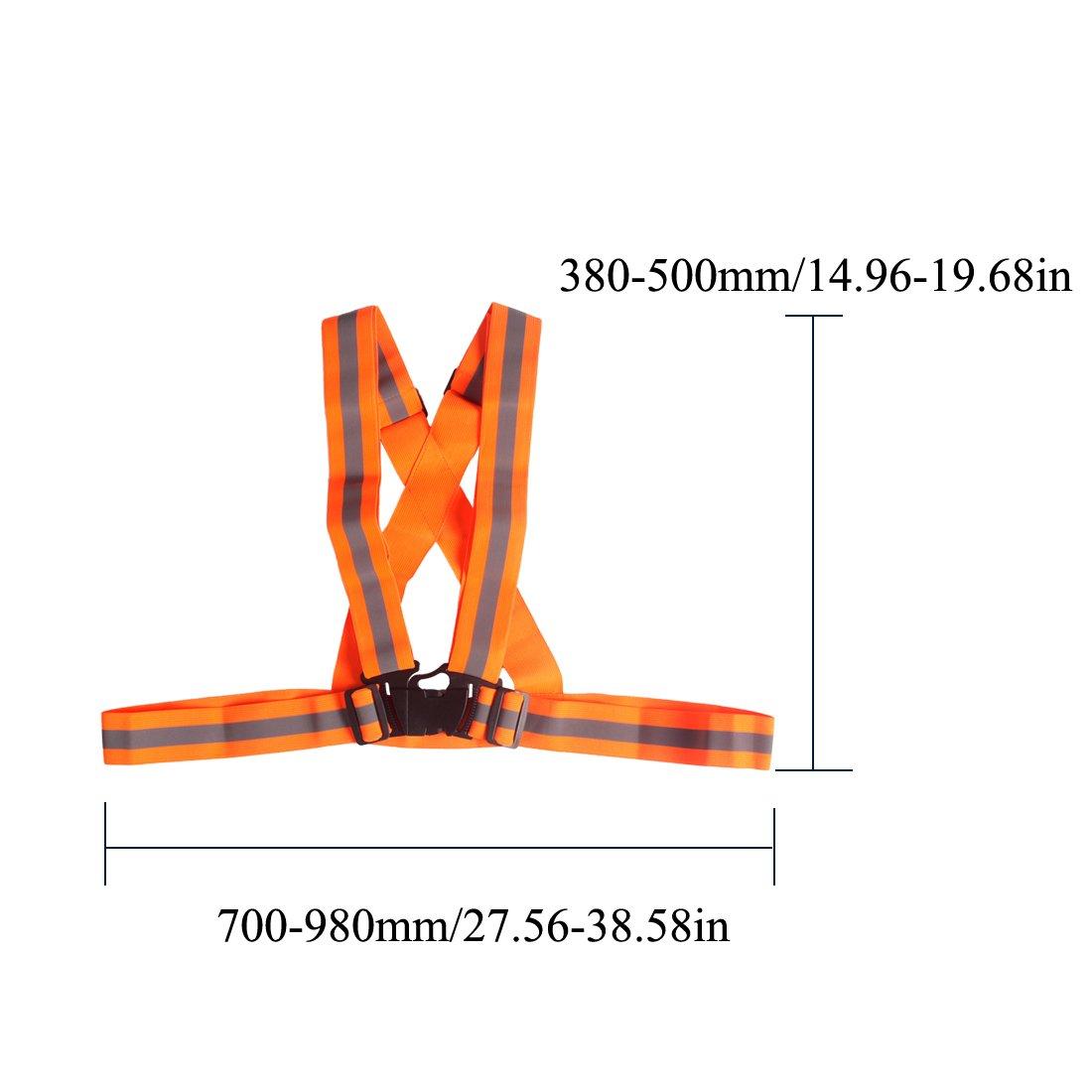 Andux Zone Chaleco Reflectante Adultos Alta Visibilidad para Correr Jogging Walking Cycling FGBX-01 1 Pieza, Magenta