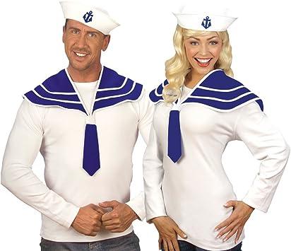 Seemann Matrosen Mütze Hut Seefahrer weiß Matrosin Zubehör