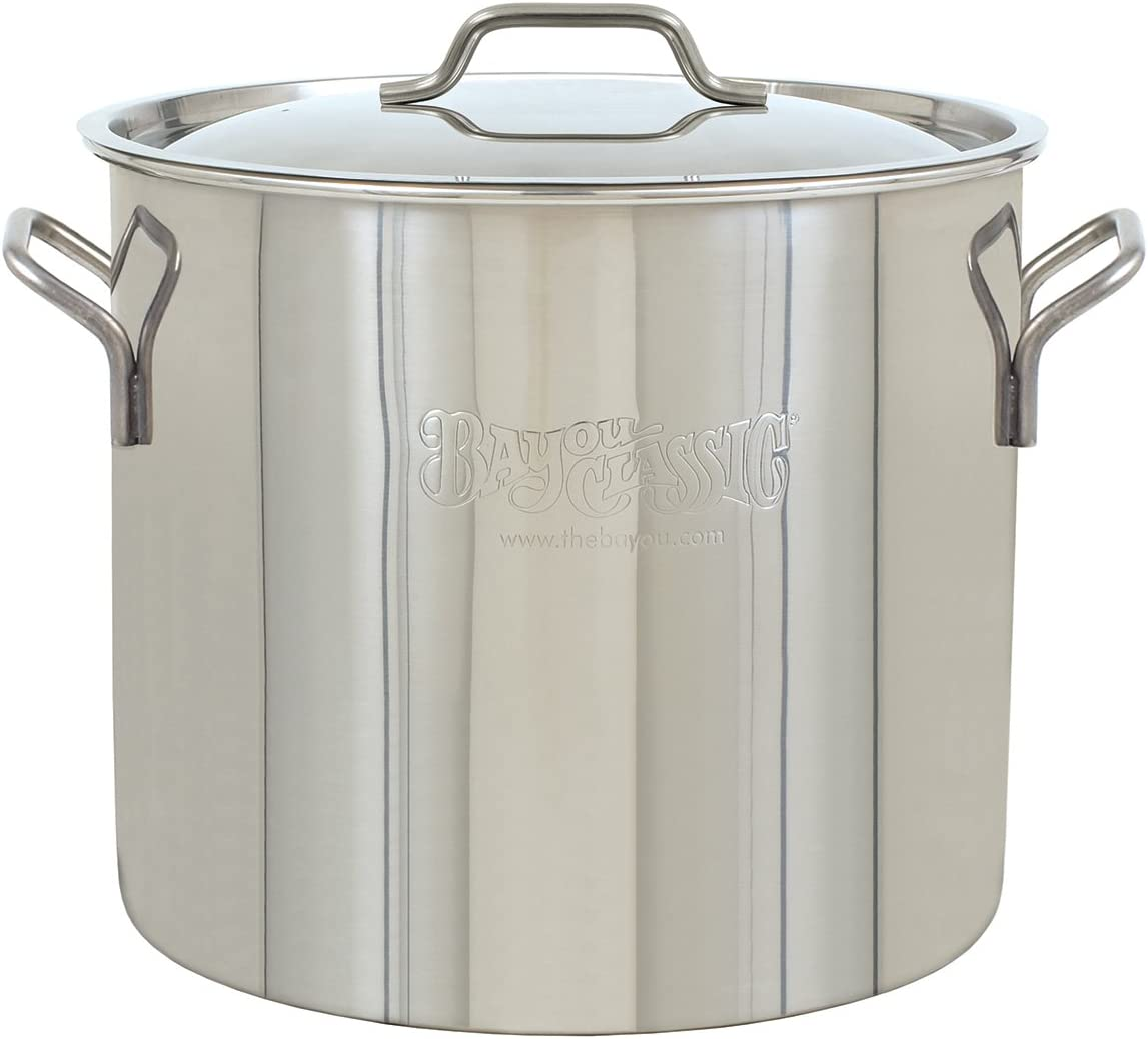 Bayou Classic, Stainless Steel Brew Kettle, 20 quart