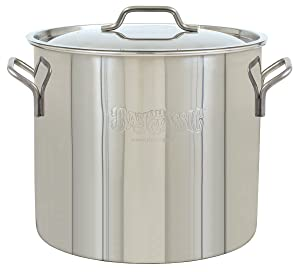 Bayou Classic 1440 Bayou Brew Kettle, 40 Quart, Stainless Steel