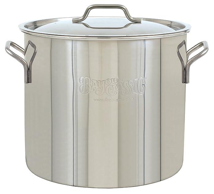 Bayou Classic 1440 Bayou Brew Kettle, 40 Quart, Stainless Steel
