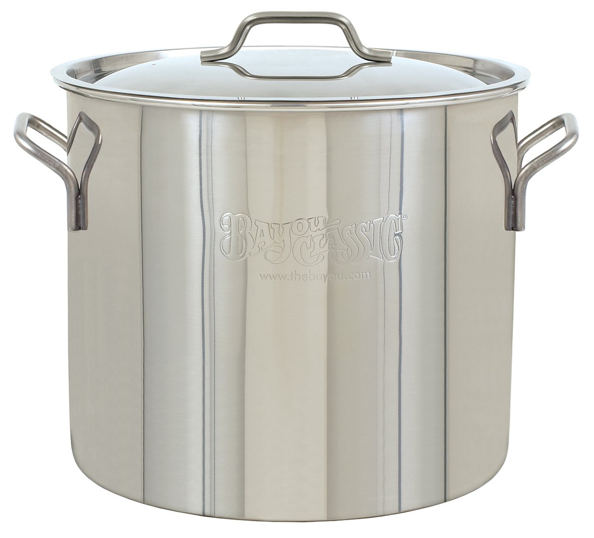 Bayou Classic Bayou Stainless Brew Kettle, 30 quart, Stainless Steel
