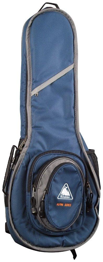 Boulder CB-321BL Alpine Deluxe A-Model Mandolin Gig Bag - Navy Blue