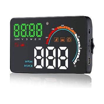 """GPS Sistema Coche HUD 4,0""""Pantalla Parabrisas LED Proyector Cabeza Hasta Pantalla Con"""
