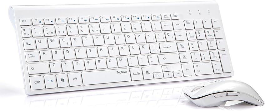 TopMate KM9001 Pack de teclado y rat¨®n, 2.4 GHz inal¨¢mbrico ...