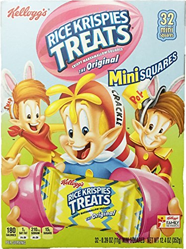 Kellogg's Rice Krispies Treats Easter Fun 32 Mini Squares Crispy Marshmallow Squares (Crispy Rice Treat)