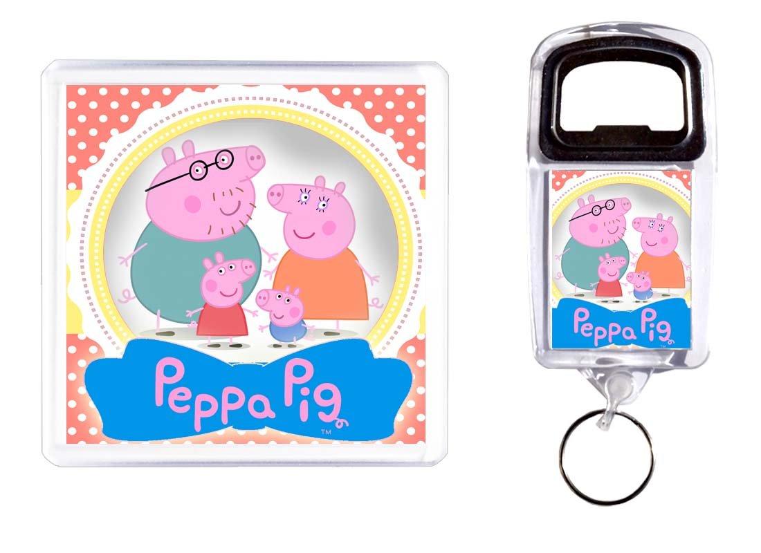 Abridor de botella y posavasos Peppa Pig 2: Amazon.es: Hogar