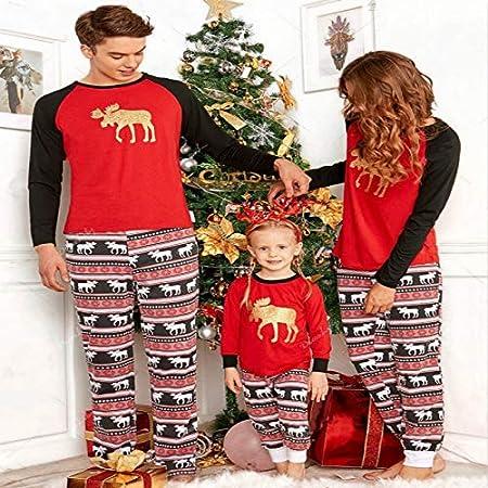 Pijama Navidad Familiar Juego Ropa otoño Invierno Padres e Hijos ...