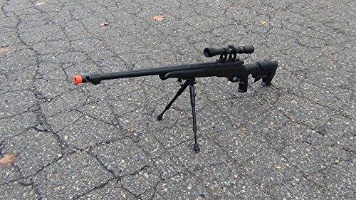 Wellfire mb11d rifle de francotirador de acción de perno de metal completo con alcance y bípode (pistola de Airsoft)